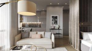 Идеи создания модного интерьера в однокомнатных квартирах